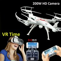 Wholesale DHL X5SW X5SW FPV Drone RC Helicopter MP WiFi Camera Real Time Video RC Quadcopter G Axis