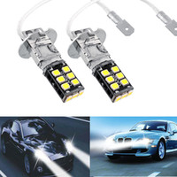 Wholesale 2x Bright White H3 W Canbus High Power For Fog Driving DRL LED Light Bulb Lamp CLT_03J