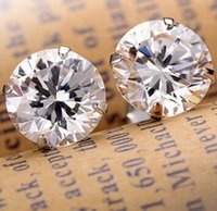 Wholesale Fashion Noble Jewelry Crystal Rhinestone Silver Plated Stud Earrings Piercing Ear Studs For Weddings Party