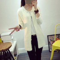 acrylic mohair - 2016 women Spring Cardigans Fashion Mohair Cardigans Casual Tricotado Long Cardigan coats Sweaters For Ladies