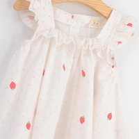 american chinese times - 2016 Limited Time limited cm t Lovely Flying Sleeves Dot Strawberry Pleated Princess Strap Baby Girl Summer Tutu Dress