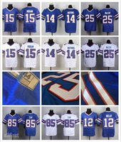 Wholesale Men s Elite Football Jerseys White Purple Black Jerseys Watkins Hogan McCoy etc Buffalo Jerseys All Stitched