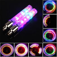 bicycle light automobiles - NEW Colorful LEDs Bicycle Wheels Light Warning Lamp With Colors For Bike Motorcycle Or Automobile Valve Mouth