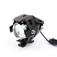 LED light . Universal 125W Waterproof Motorcycle LED Headlight 3000LMW Motorbike LED Driving Fog Spot Head Light Lamp w  switch