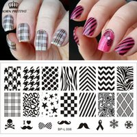 Wholesale Selected Classic Patterns Nail Art Stamp Template Image Plate BORN PRETTY BP L006 x cm