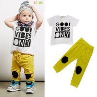 Wholesale Baby Boy Clothing Set Childrens Clothing Baby Clothes kids Summer Sport Set Children Outfits Fashion Sport Suit For Kid