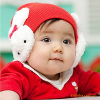 beanie baby rabbit - Five colors baby hat qiu dong with the rabbit wool beanie babies age baby hat