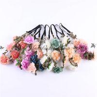 Wholesale Fashion Hand Made Romantic Bohemian Style Hair Bands Wreath Flower Crown Wedding Bride Garland HairBand HeadBand Beach Wreath M237