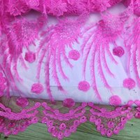 Wholesale FZG19 African lace fabric swiss voile lace top quality French net mesh lace fabrics Decorated stones african dresses