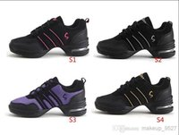 Wholesale Pop Women Sports Shoes Fashion Canvas shoes Fitness Shoes Upper Modern Jazz Hip Hop Sneakers Dance Shoes