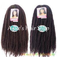 afro kinky bulk - Afro Kinky Marley Braiding Hair quot Senegalese Twist Curly Crochet Synthetic Box Braids Hair Extensions Bulk Havana Mambo Twist
