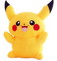 Wholesale Pikachu Plush dolls cm inch Poke plush toys cartoon poke Stuffed animals toys soft Christmas toys best Gifts