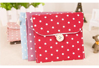 Wholesale Hot Sell Colors Brief Cotton Full Dots Sanitary Napkin Bags Cute Sanitary Towel Storage Bag Menstrual Pads
