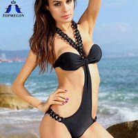 Wholesale one piece swimsuit monokini moda praia swimwear women swimwear one piece swimwearne piece bathing suits for women
