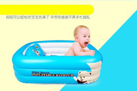Wholesale 2016 Hot Sale Large inflatable baby newborn baby tub thick plastic folding cartoon child children bathtub