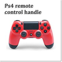 Wholesale new design double shock wireless controller for ps4 with black red blue white and camouflage in stock dhl free