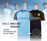 Wholesale Best Thai Quality Manchester city Soccer Jersey Men Home Blue Away Black KUN AGUERO SANE GUNDOGAN etc Soccer Jerseys