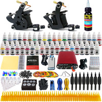 Wholesale solong tattoo Complete Tattoo Kit Pro Machine Guns Inks Power Supply Needle Grips TK257