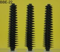 QZ-22 big lashes mascara - Big Sale Black D Fiber Lash Plastic Silicone Nylon Mascara Eyelash Eyebrow Eyeliner Brushes Tube Bottle Container White Applicator QZ