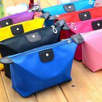 Wholesale 12 COLORS Dumpling Type Cosmetic Bag Capacity Cosmetic Case Foldable cm Cosmetic Box Waterproof Makeup Bags For Women PPA260