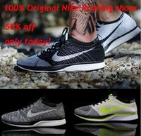 Wholesale 2016 Best Quality FLYKNIT RACER mens womens Chaussures RACer Zapatillaes Safe FAST Delievery