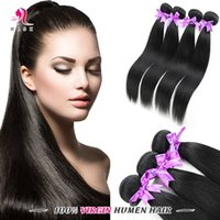 brazilian hair bundle jet black - Remy Human Straight Hair Jet black Bundles A Brazilian Remy Braiding Virgin Hair Weave Brazilian Silk Black Straight Hair