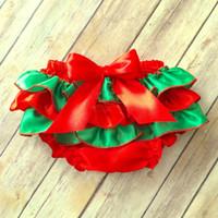 Las muchachas rojas de los muchachos de las muchachas de Bloomer del bebé al por mayor de la Navidad resumen la cubierta recién nacida del pañal de Bloomer de la colmena de Toddle del niño para el bebé