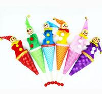 al por mayor telescópica ocultó-Payaso Pop Up Puppet Telescópico Stick Doll Ocultar Y Buscar Niños Niños Fun Actividad Juguete-Colores Surtidos