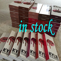 Wholesale 2016 in stock New Lipgloss Kylie Lip Kit by kylie Jenner Lipstick With Liner Lip Gloss Liquid Matte Lasting Makeup Colors Lip Gloss Brand