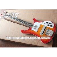 Wholesale Cherry Sunburst CS Color Strings R Rick Bass Electric Guitar China Music Instruments Factory