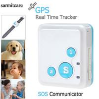 Wholesale CS002 Real Time GPS Tracker Mini SOS Communicator for Kids Child Elderly Personal GSM GPRS GPS Tracking Device rf v16 sarmitcare