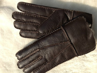 Wholesale Real Sheepskin gloves with logo Custom Australia brand sheepskin Men s women s gloves thick warm winter gloves