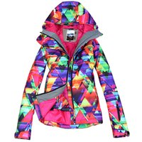 Wholesale Gsou Snow Waterproof Windproof Jacket Ski Suit Womens Snowboard Jackets Mountain Skiing Suit women Skiing Clothing