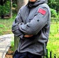 Wholesale Tactical Jacket Fall Winter Military Uniform Soft Shell Fleece Hoody Jacket Men Thermal Clothing Casual Hoodies