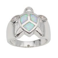 Wholesale Unique Design Tortoise Jewelry Fire Opal Gem Rings on Sale Top Quality Sterling Silver Rings For Women Men Fashion Jewelry