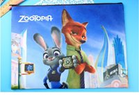 Wholesale Novelty Zootopia Cartoon A4 A5 File Folder Document Filing Bag Stationery Bag