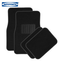 Wholesale AUTOYOUTH pc SOLID Blue and BLACK METRO Carpet MAT Pads Liner CAR FLOOR Mats Rubber Backing