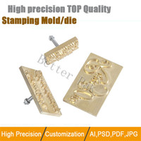Wholesale Brass copper stamping machine mold CNC engraving mold for hot foil stamping machine stamping copper mold leather bronzing die