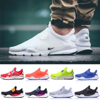 athletic hiking boots - 2016 Fragment X Socks Dart Air Presto Fur leather running Boots shoes for men women discount athletic trainers Snakers shoes size