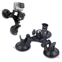Wholesale New Triple Suction Cup Mount Low Angle Sucker for Gopro Hero Camera