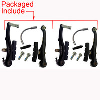 Wholesale Mountain bikes V Brake Set Aluminium Alloy Black bike caliper brake Front and Rear Brake Bicycle Parts C0384