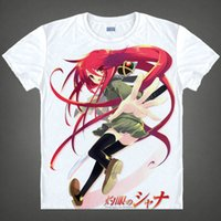 awesome anime cosplay - Burning Eyed Shana Crimson Realm Colorful T Shirts Anime Accessories Awesome Shirt Print Womens T Shirts Cosplay