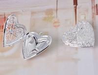 Wholesale Heart Shape mm mm Silver Floating Locket Pendant Antique Bronze Fashion Women Jewelry LOVE Gift