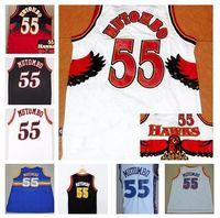 atlanta embroidery - Dikembe Mutombo Jersey Denver Atlanta Blue White Nave Throwback Jerseys Cheap Embroidery Jersey