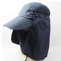 Wholesale 360 degree Women s Sun Hat Camping Fishing Outdoor Sports Sun UV Protection Cap Baseball Hat Neck Face Flap Hat