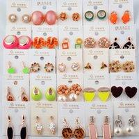 banana varieties - A variety of styles mixed jewelry fashion alloy diamond earrings wisdom key plum starfish bear leopard grain love banana mushroom