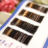 Wholesale set BLACK invisible Hair Clips Flat Top Bobby Pins Grips Salon Barrette EC006