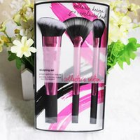 beauty tech makeup - Real tech rose pink sculpting brush set Professional Makeup brushes Synthetic Hair face care maquiagem beauty maquillaje cosmetic make up