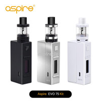 Wholesale Authentic Aspire Evo75 Full Kit Include Two Vaping Heavy Hitters NX75 Z Mod Atlantis EVO Tank Can Customizable Firing Button Profiles
