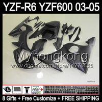 Wholesale 8Gifts Body For YAMAHA ALL Flat black YZF R6 YZF600 YZF Y94199 YZF R6 Matte blk YZF YZFR6 YZF R Fairing Kit